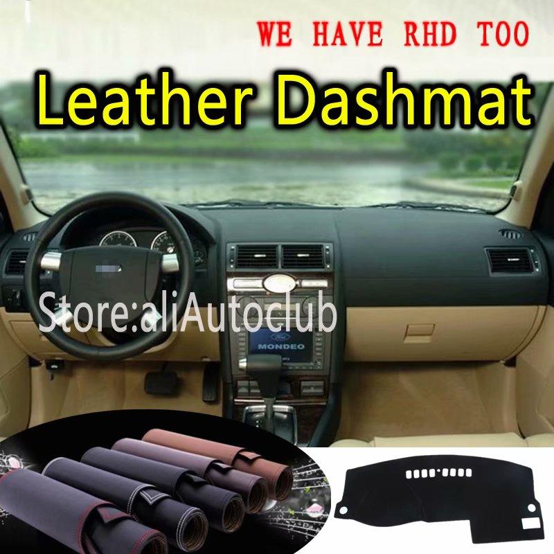 Pour Ford Mondeo Mk3 2000 2001 2002 2003 2004 2005 2006 2007 cuir Dashmat couverture de tableau de bord tapis de bord tapis de voiture personnalisé style