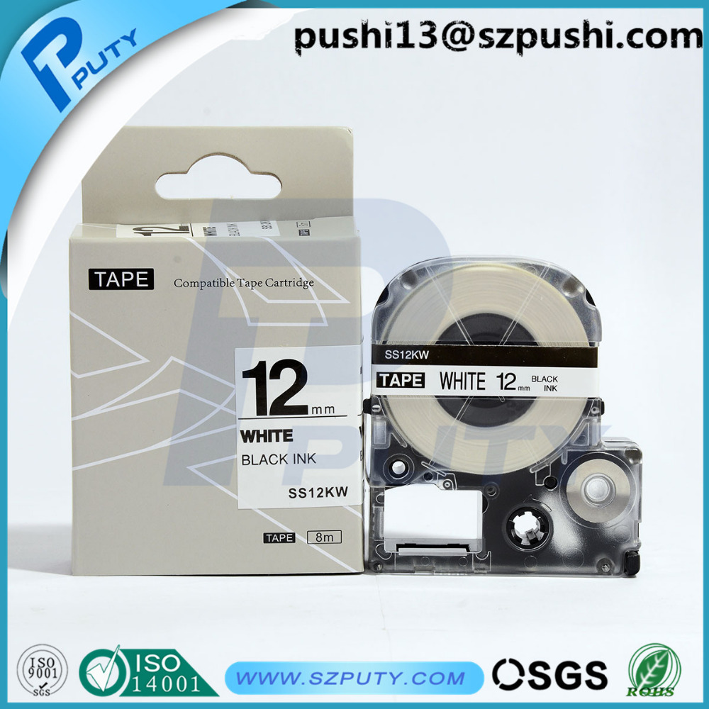 Compatible 12mm LC tape SS12KW labeling tape for EPSON LabelWorks LW300 lw400