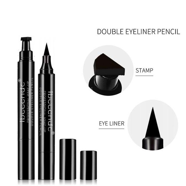4 Style Eyeliner Stamp Pencil Black Liquid Makeup Waterproof Long-lasting Eye Liner Wing Stamps Eyes Liners Marker Pen Eyeliners 1
