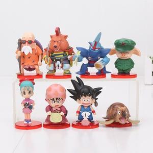 Image 2 - 8 Stks/set 3 10Cm Dragon Ball Z Wcf Zoon Goku Chichi Dwc Gohan Piccolo Vegeta Nappa Raditz Freeza pvc Action Figure Model Speelgoed