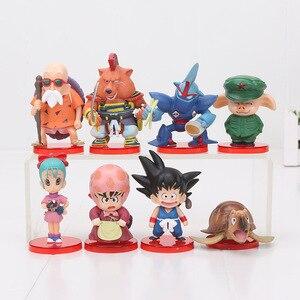 Image 2 - 8pcs/set 3 10cm Dragon Ball Z WCF Son Goku chichi DWC Gohan Piccolo Vegeta Nappa Raditz Freeza PVC Action Figure Model Toy