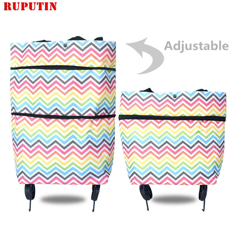RUPUTIN New Folding Shopping Bag Shopping Trolley Bags On Wheels Bags On Wheels Buy Vegetables Shopping Organizers Portable Bags