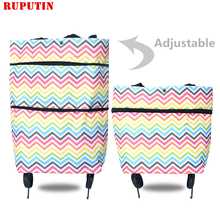 RUPUTIN New Folding Shopping Bag Trolley Bags On Wheels Buy Vegetables Organizers Portable