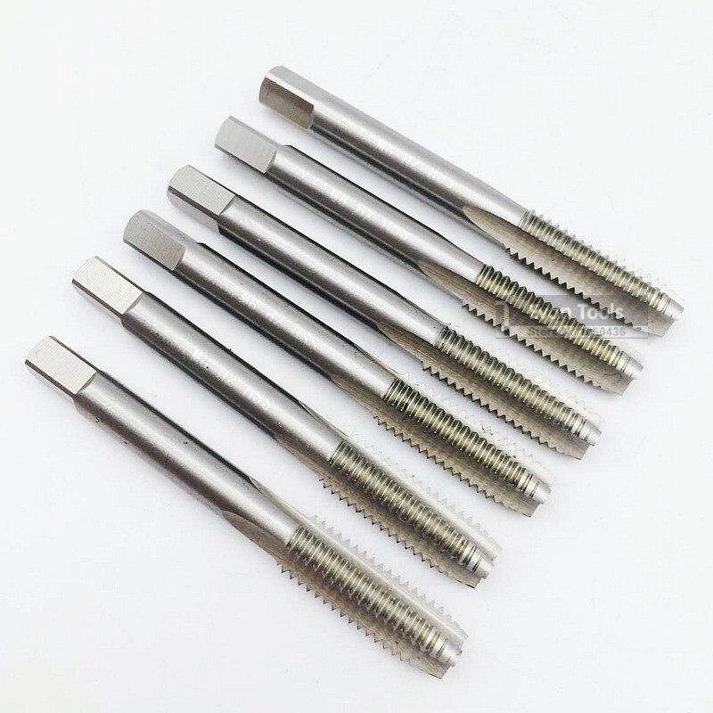 Conjunto de ferramentas de leitura por parafuso m8 h2 hss, machos de roscar 10 pçs/caixa