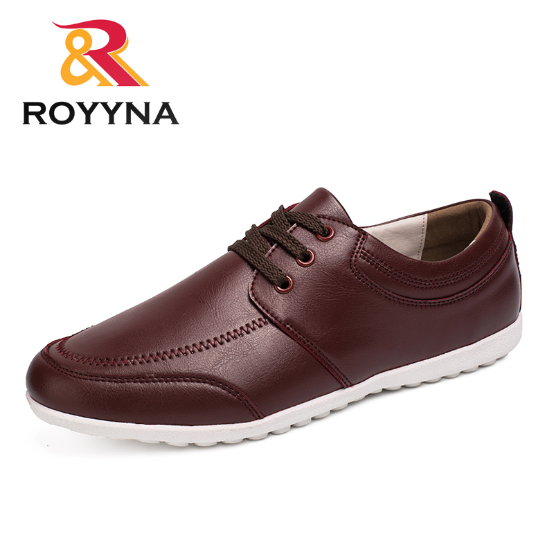 ROYYNA New Popular Style Men Casual Shoes Microfiber Men Shoes Lace Up Flats Comfortable Men Loafers Light Soft Free Shipping цена 2017