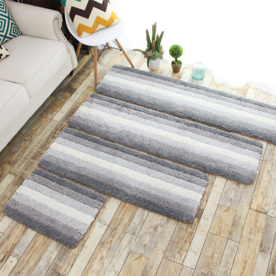 Bedside Carpet RectangleMat Nordic Couch Cotton And Linen Woven Floor MATS Can Be Machined Wash kitchen room living room in Carpet from Home Garden