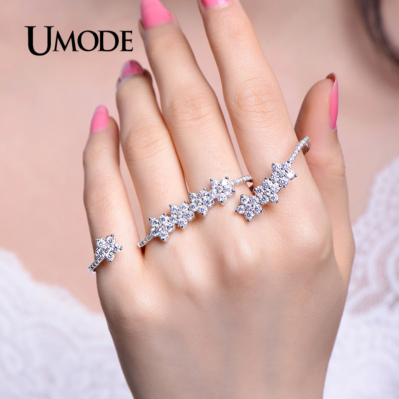 Umode 2016 Gorgeous Adjustable Micro Cubic Zirconia Pave -5875