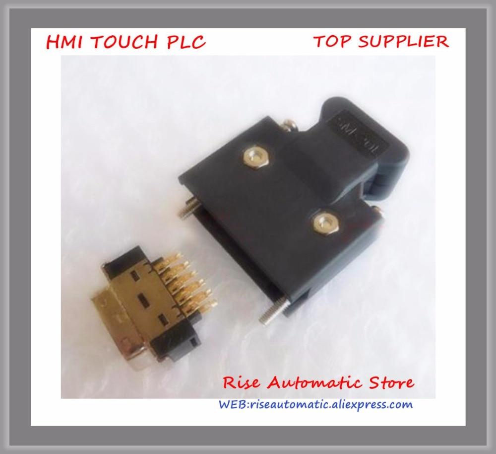 1set SCSI MDR Connectors 20Pin Replace for 10320-52F0-008 SCSI servo driver