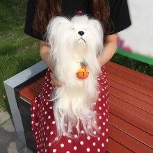 Cão manequim Com Cabelo Real Animal Para A Prática de Banho Corte Corante Lixívia Golpe Treinamento Realista Manequins Modelo Cão Como Presente
