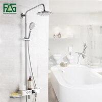 Flg Ванная комната осадков Смесители для душа 8 дюймов Насадки для душа ABS ручной душ опрыскиватель настенный Для ванной душ Наборы для ухода