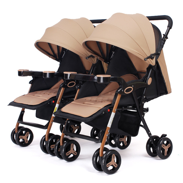 Twin baby stroller Light folding baby stroller High landscape two-way implementation baby carriage Can sit and recline adjustablTwin baby stroller Light folding baby stroller High landscape two-way implementation baby carriage Can sit and recline adjustabl