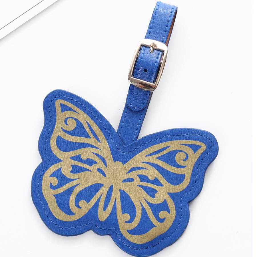 Sales Suitcase Lovely Butterfly Luggage Tag Label Bag Pendant Handbag Portable Travel Accessories Name ID Address Tags LT25B