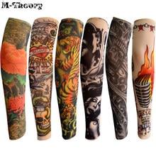M-theory 6 stücke Kind Größe Rock Stil 3D Tattoo Arm Strümpfe Leggings Lustige Coole Jungen Mädchen Party Wearings
