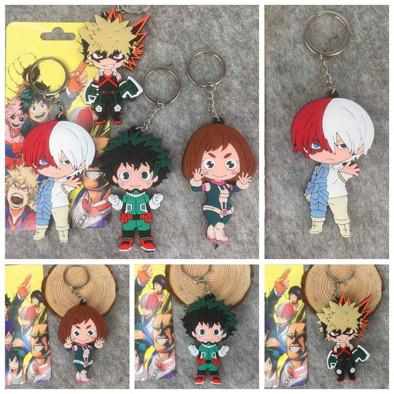 Anime Figures My Hero Academia Japan Cartoon Characters Pendant Keychain Birthday Gifts Action Figure Keyring Ornament Kids Toys
