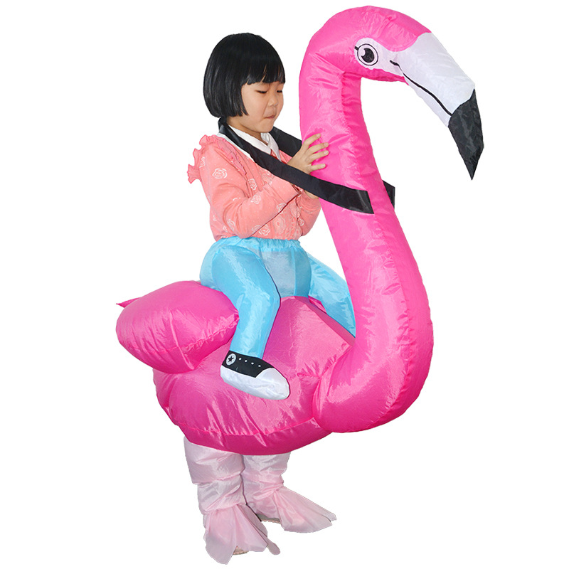 Flamingo Children Inflatable Costumes Anime Kid Cosplay Clothes Make Up Halloween Christmas Dinosaur Party Toy Inflated Garment