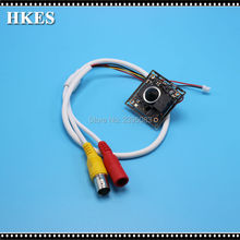 HKES New 12pcs/lot 2000TVL cctv ahd mini camera module with 3.7mm lens PAL/NTSC