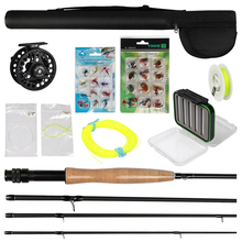 MaxWay 3/4 5/6 7/8 Fly Fishing Set Carbon Fly Fishing Rod Reel with Line Files Line Connector Fly Fishing Rod Combo
