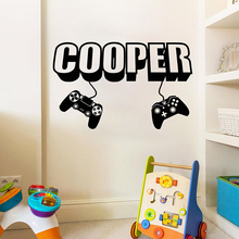 лучшая цена Gamer wall decal Game wall decal Controller video game wall decals Customized For Kids Bedroom Vinyl Wall Art Decals A1-003