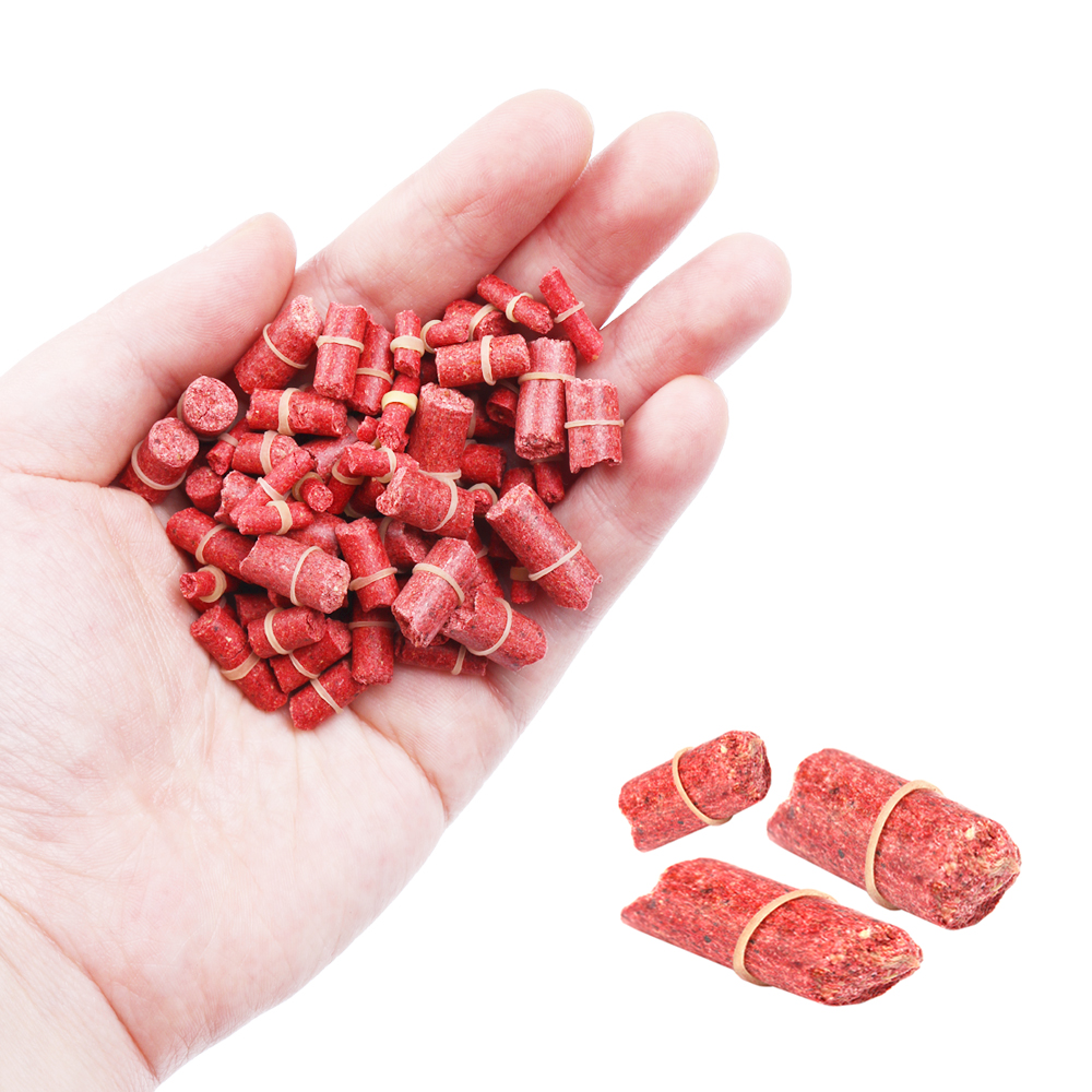 High Quaility Red Grass Carp Baits Worm Smell Crankbaits Hooks Fishing Lures