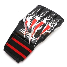 Half finger Boxing font b Gloves b font Sandbag Training MMA Fighting Sparring Combat font b
