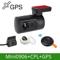 Arpenkin DVR Car Dash Camera GPS Cam Mini 0906 Novatek 1080P 60FPS Ultra HD Digital Video Recorder Super Capacitor Registrar DVR