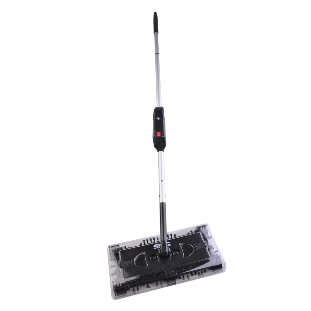 Automatic Hand Push Electric Cordless Swivel Sweeper Floor Dust Cleaner Vacuum Home Cleaning Machine Black Easy Operate J25C26 метла swivel sweeper max g8