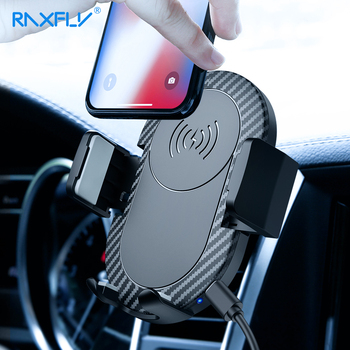 RAXFLY Carro Carregador Sem Fio Para iPhone XS Max XR XS 8 Plus X Sem Fio Carregador de Carro Rápido Para Samsung Nota 9 8 S8 S9 Plus Plus S8 S10 carregador veicular carregador rápido carregador portatil para celular