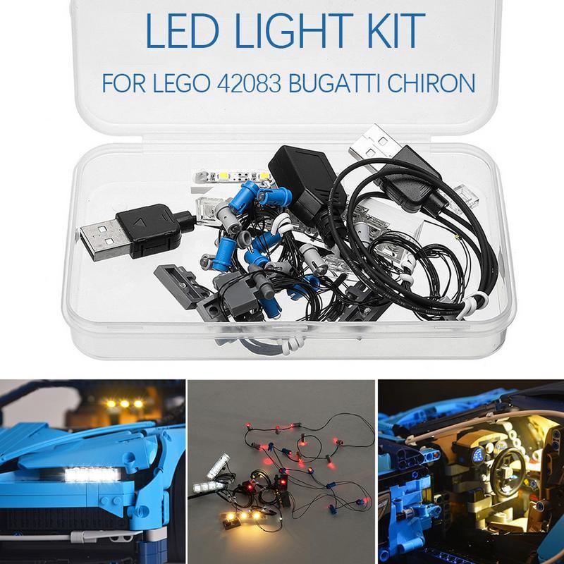 Lumière led kit d'éclairage bricolage Lumineux blocs de construction SEULEMENT Pour LEGO 42083 Bugatti Chiron Ensemble Technique - 3