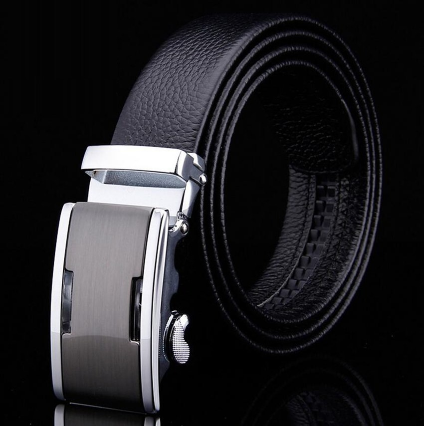 black silver buckle
