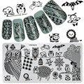 Недавно Прекрасный Животных Дизайн Ногтей Штамповки Пластин Konad Штамповка Nail Art Маникюр Шаблон Ногтей Штамп Инструменты # YZW-N10