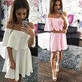 Горячие Продажа 2017 Женщины Dress Лето Стиль Случайные Сексуальные Платья Партии Плюс Размер Повязки Dress С Плеча Vestidos femininos