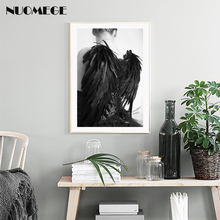 Modern Portrait Art Wings Boy Character Posters and Prints Wall Art Canvas Painting Wall Pictures Nordic Decoration Poster