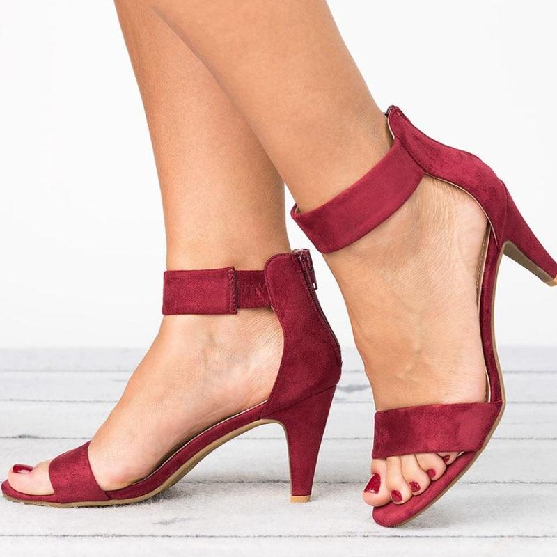 Women Sandals Open Toe Summer Shoes With 5CM High Heels Sandals Female Plus Size 43 Thin Innrech Market.com