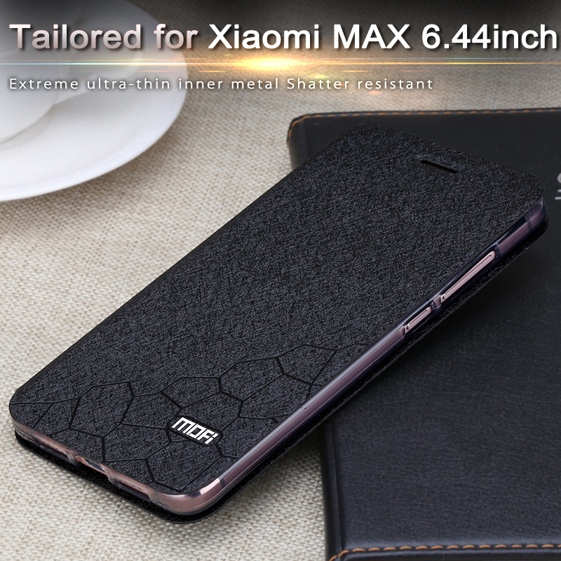 buy online d5aea 4c180 US $11.49 |xiaomi mi max case xiaomi mi max case cover flip leather matte  mofi folio coque soft silicone back caso xiaomi mi max case-in Flip Cases  ...