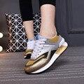 Повседневная обувь женская босоножки zapatillas deportivas mujer смешанные цвета дышащей обуви марка пот-поглотитель теннис женщина для сетки