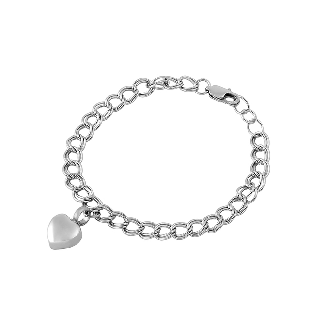 Ijb5010 Hot Ing Stainless Steel Heart Urn Charm Bracelet Cremation Jewelry For Women Men