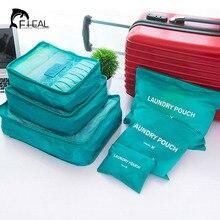 FHEAL 6 teile/satz Reise Aufbewahrungstasche Hohe Kapazität Gepäck Kleidung Tidy Organizer Pouch Tragbare Wasserdichte Aufbewahrungstasche