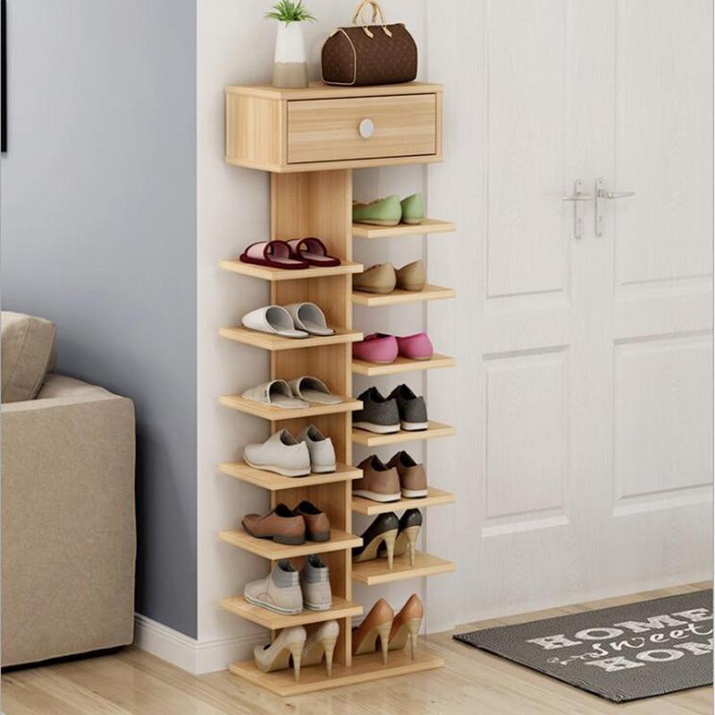 Ordinaire Double Shoe Racks Scarpiera Organizer Wooden Home Furniture Estanteria Para  Zapatos For Living Room Shoe Cabinet With Cabinet