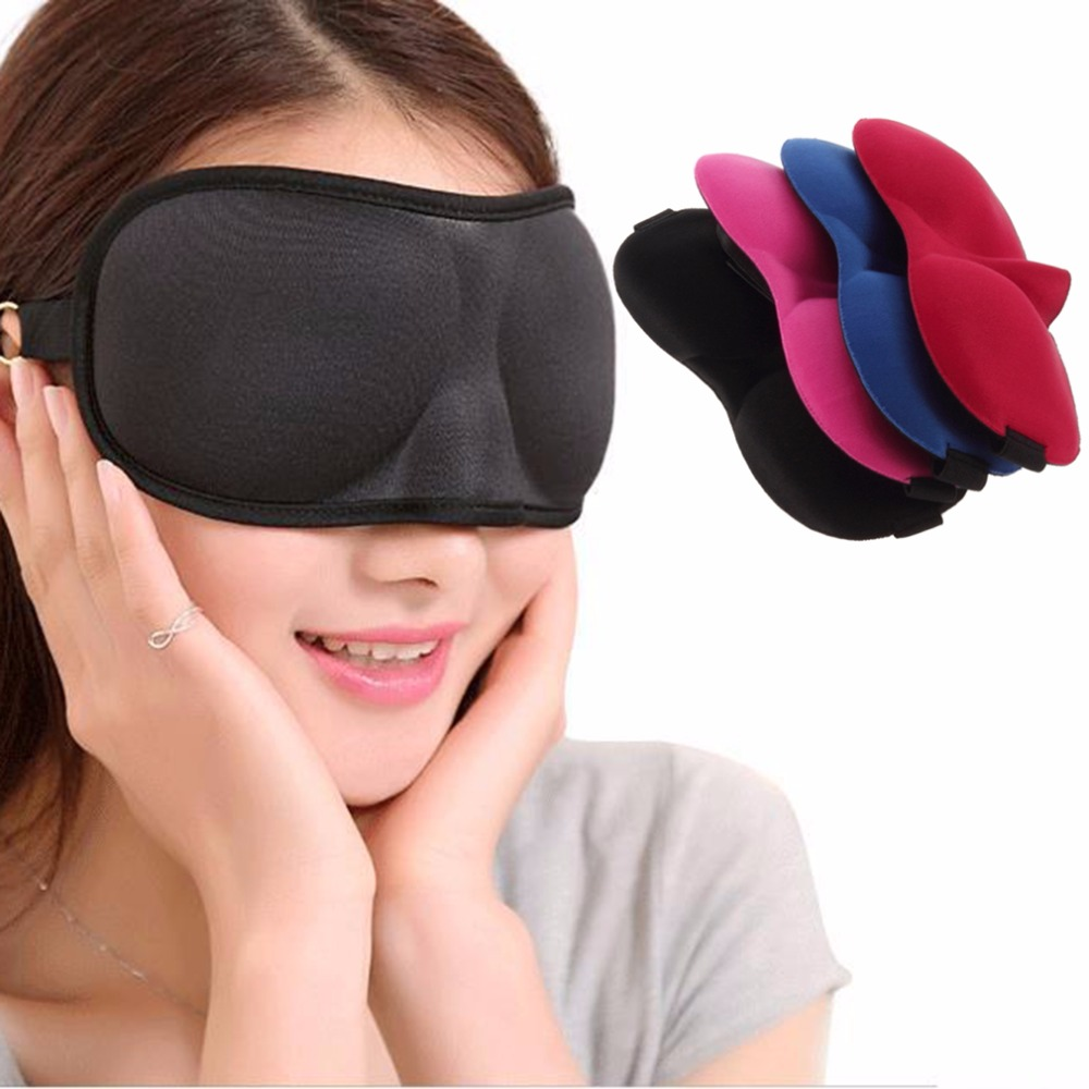 1 pc Cute Xmas Gift Travel Sleep Sleeping Eye Mask blue Eyeshade Blindfold Cover Light 2018 Wholesales