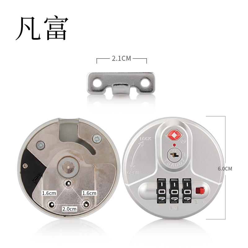 Lock smith tools customs ABS lock Anti-Theft Locks  combinations Aluminum frame lock security protect Zinc alloy material lock(China)