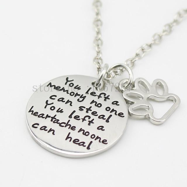 Pet Loss Necklace Memorial Necklace  1