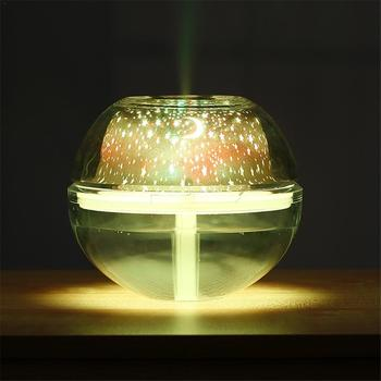Usb مبتكرة ملون led العارض ضوء المرطب الكريستال مصباح الإسقاط مصباح الليل