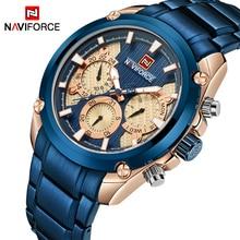NAVIFORCE relojes de marca de lujo para hombre, de cuarzo deportivo a la moda, con fecha de 24 horas, militar, resistente al agua, Masculino