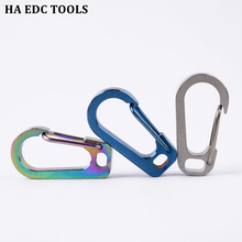 Flat Hole Buckle Titanium Alloy Keychain D Buckle Quickly Hung Buckle Outdoor Carabiner Hang Up Flashlight Buckle EDC Hanging s l titanium alloy key ring hung buckle outdoor edc tool keychain pocket titanium buckle