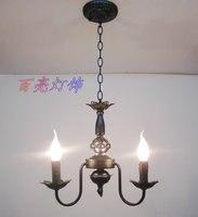 Múltiplas lâmpada vela Lustre de Moda de luxo antigo rústico lâmpada refeição sala de estar
