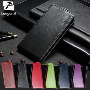 TAOYUNXI 5.0 inch Case Flip For Micromax Q409 Cover Leather Plain Vertical  Black d584bda9fd1