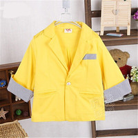 Spring Autumn Baby Boys Candy Color Western Style Suit Little Boys All Purpose Style Coats Boys