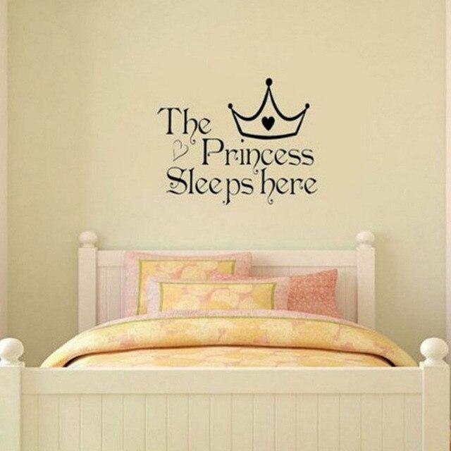 Pretty Personalized Princess Words Wall Sticker Decor Vinyl Bedroom ...