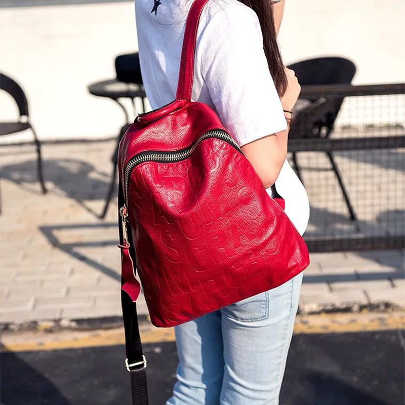 New Fashion Design Women Backpack High Quality Youth Leather Backpacks for Teenage Girls Female School Shoulder Bag Bagpack aequeen fashion leather backpack women shoulder backpacks school bag for teenage girls high quality new travel bag female