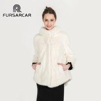 2017 Winter Mink Fur Coat Fashion Style Real Short Mink Fur Jacket Genuine Mink Coat with Stand Collar BF C0483